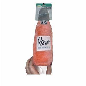 NWT Zippy Paws Rose bottle Dog toy